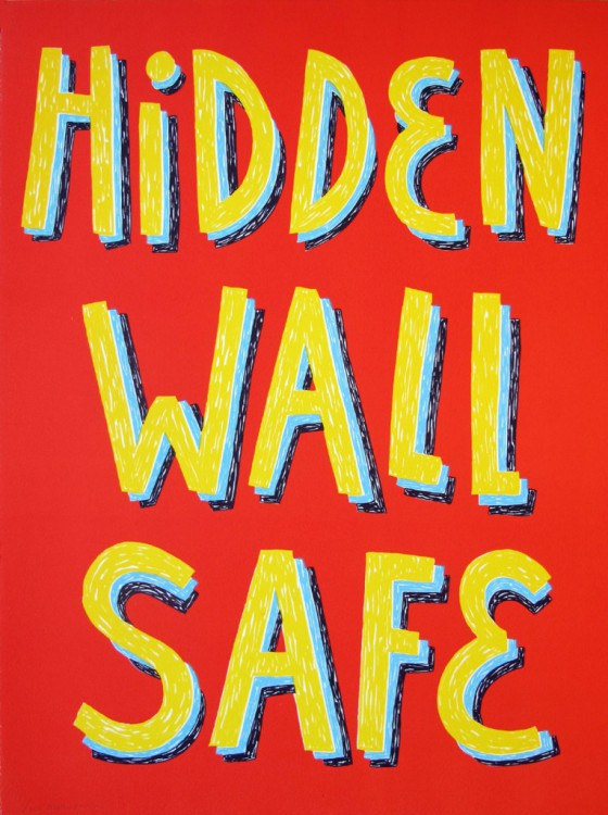hidden wall safe. hmn