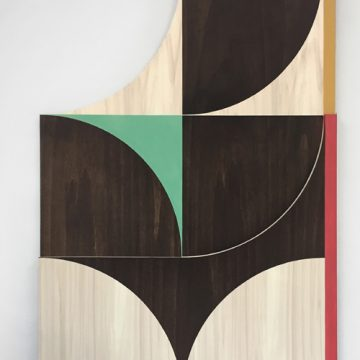 Louis Reith. Soil and paint on wood